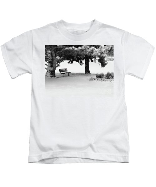 Lonely Park Bench Kids T-Shirt