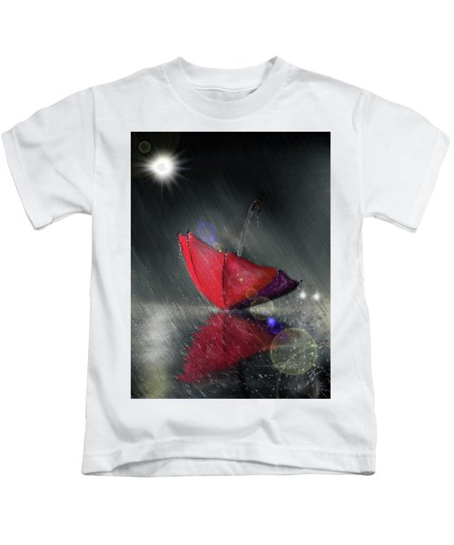 Lonely Umbrella Kids T-Shirt