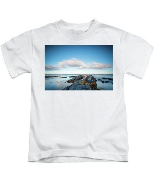 Long Exposure At Howick Coastline Kids T-Shirt
