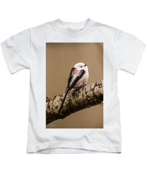Long-tailed Tit On The Oak Branch Kids T-Shirt