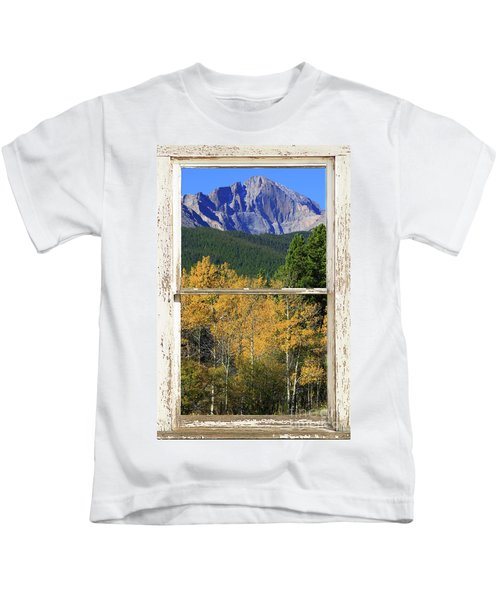 Longs Peak Window View Kids T-Shirt