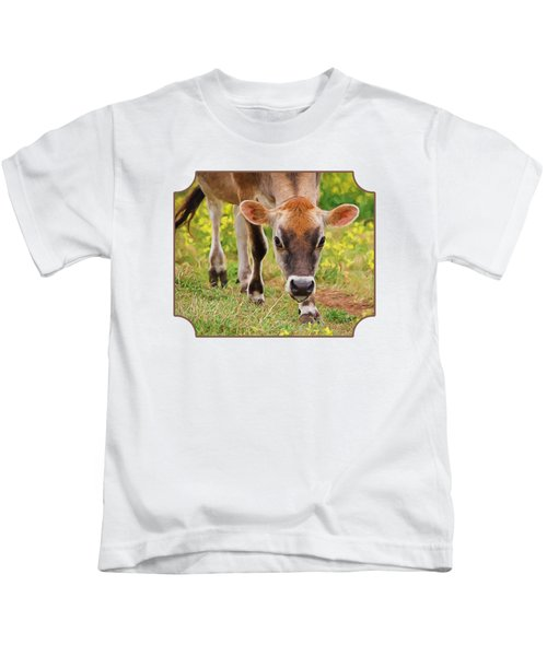 Look Into My Eyes - Painterly Kids T-Shirt by Gill Billington