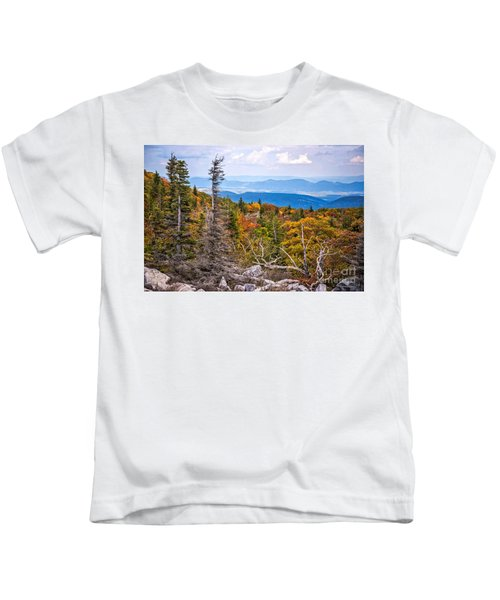 Looking East From Bear Rocks 4290c Kids T-Shirt
