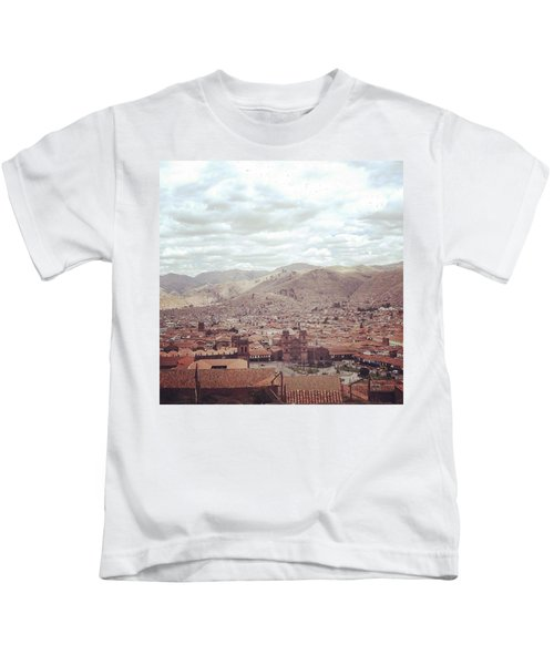 Looking Out Across Cusco At The Start Kids T-Shirt