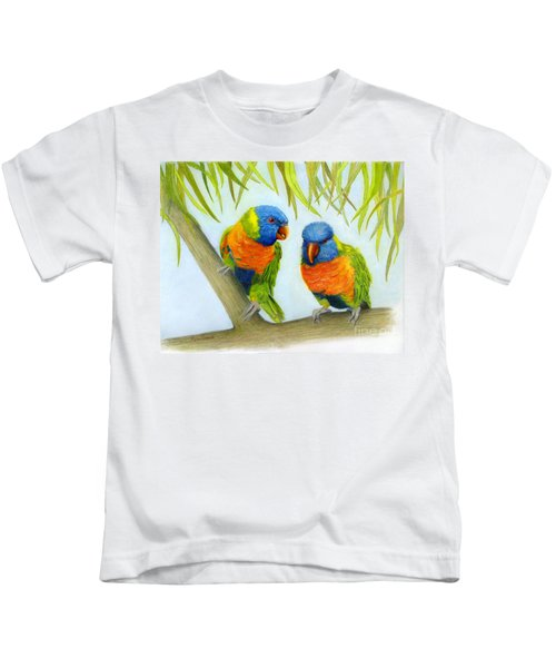 Lorikeet Pair Kids T-Shirt