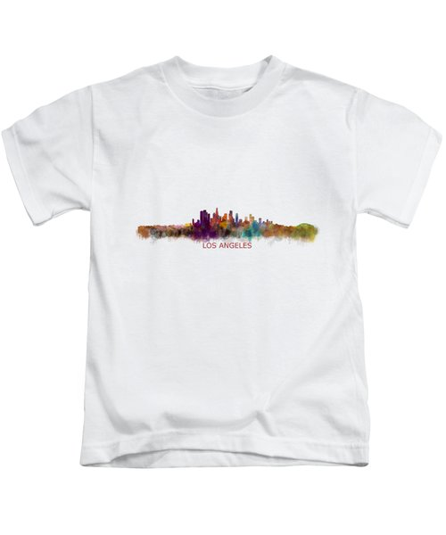 Los Angeles City Skyline Hq V2 Kids T-Shirt