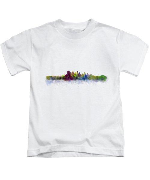 Los Angeles City Skyline Hq V3 Kids T-Shirt