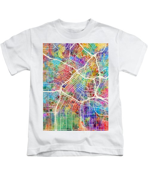 Los Angeles City Street Map Kids T-Shirt
