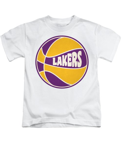 Los Angeles Lakers Retro Shirt Kids T-Shirt by Joe Hamilton