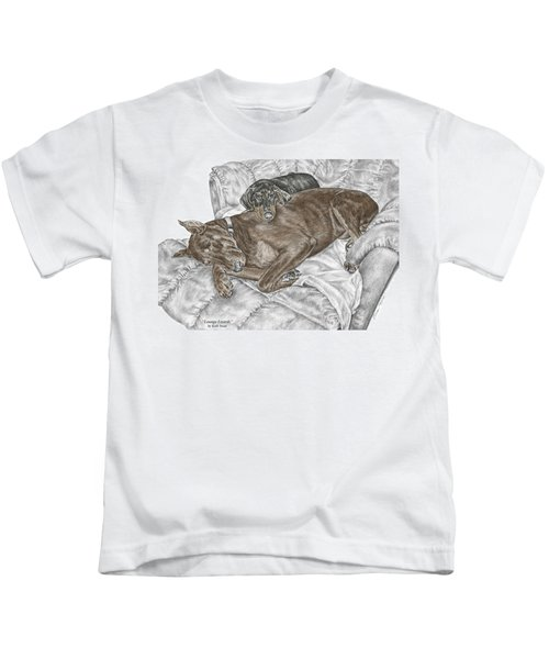 Lounge Lizards - Doberman Pinscher Puppy Print Color Tinted Kids T-Shirt