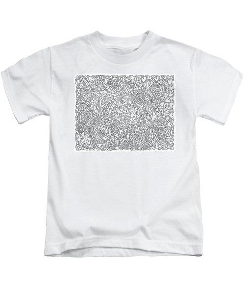 Love And Chrysanthemum Filled Hearts Horizontal Kids T-Shirt