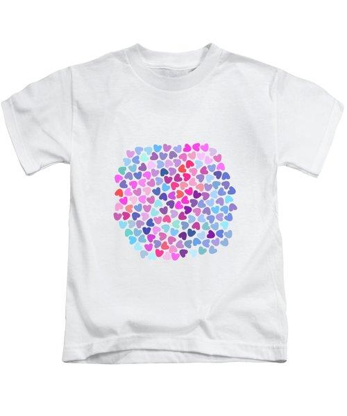 Love Love Love Kids T-Shirt by Amir Faysal