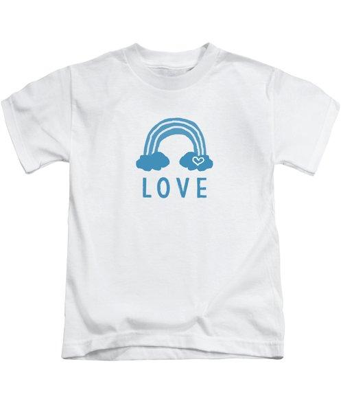 Love Rainbow- Art By Linda Woods Kids T-Shirt