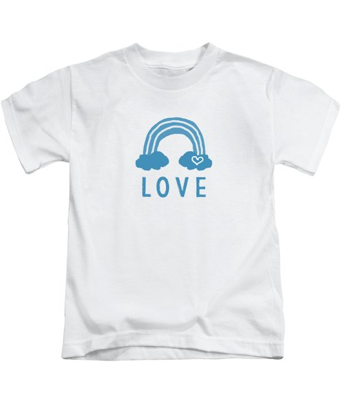 Love Rainbow- Art By Linda Woods Kids T-Shirt
