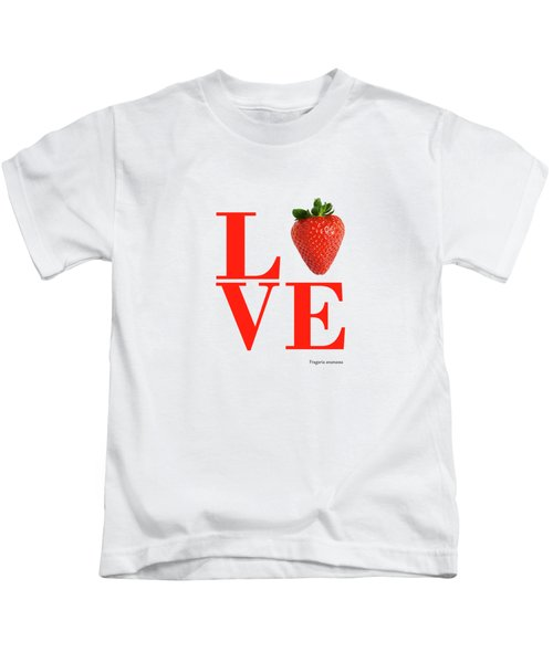 Love Strawberry Kids T-Shirt