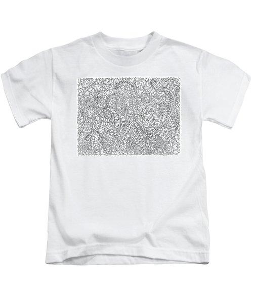 Love Within Overlapping Hearts Horizontal Kids T-Shirt