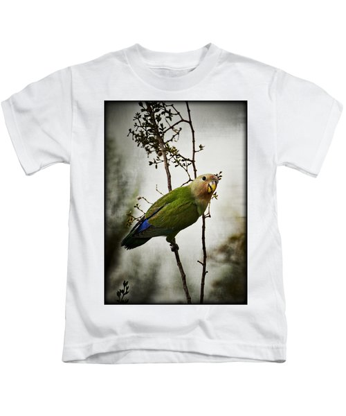 Lovebird  Kids T-Shirt by Saija  Lehtonen