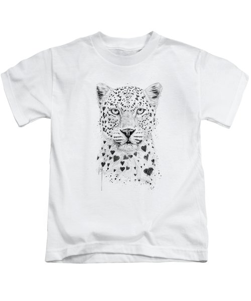 Lovely Leopard Kids T-Shirt by Balazs Solti