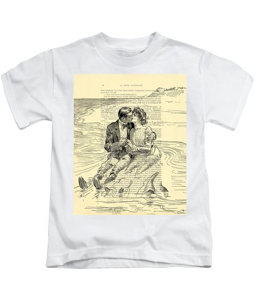 Loving Couple By The Sea Kids T-Shirt