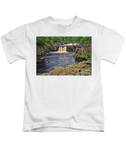 Low Force Waterfall, Teesdale, North Pennines Kids T-Shirt