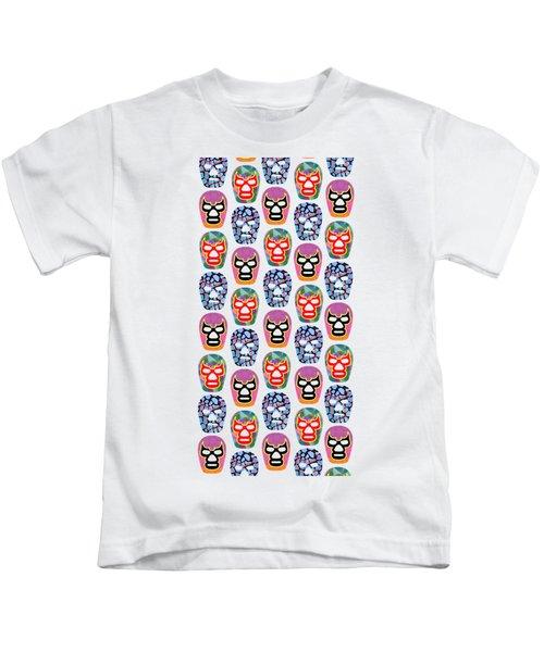 Lucha Libre Masks Kids T-Shirt
