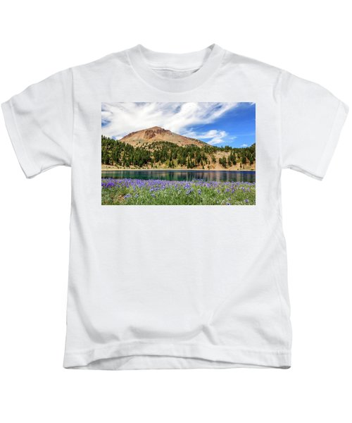 Lupines Lake And Lassen Kids T-Shirt