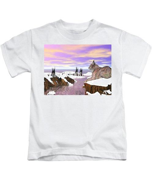 Lynx Watcher Render Kids T-Shirt
