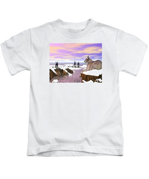 Lynx Watcher Render Kids T-Shirt