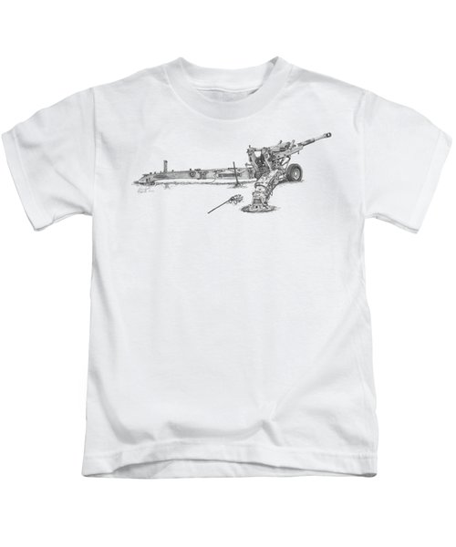 M198 Howitzer - Natural Sized Prints Kids T-Shirt