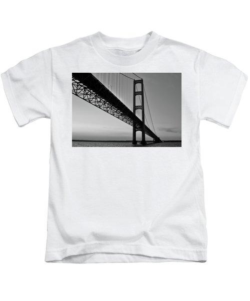 Mackinac Bridge At Sunset Kids T-Shirt
