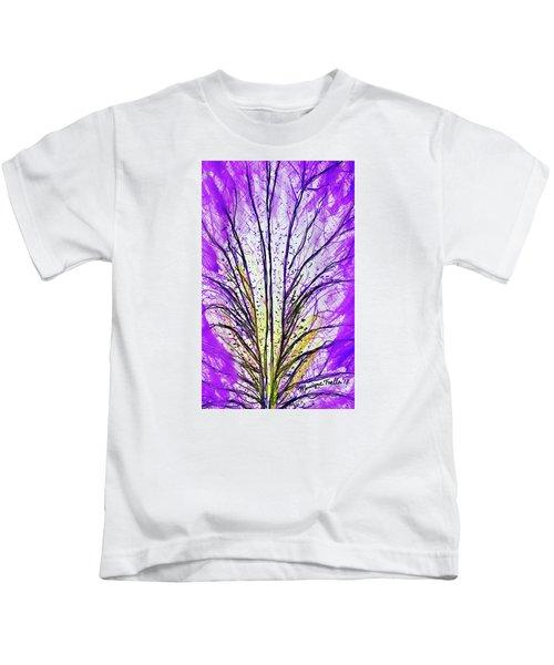 Macro Iris Petal Kids T-Shirt