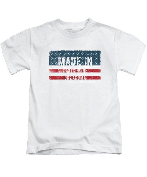 Made In Hartshorne, Oklahoma Kids T-Shirt