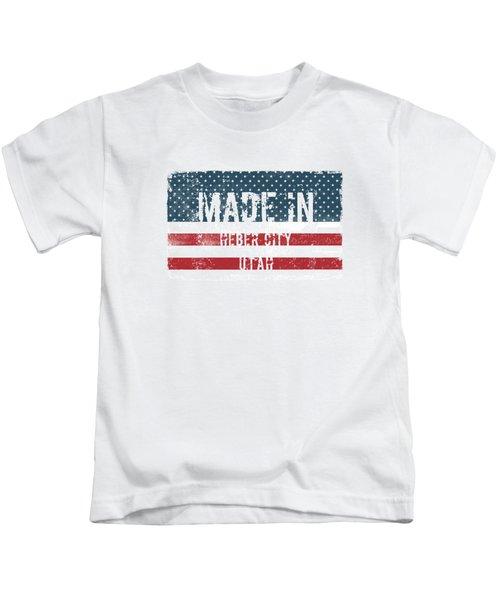 Made In Heber City, Utah Kids T-Shirt