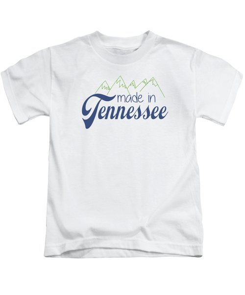 Made In Tennessee Blue Kids T-Shirt