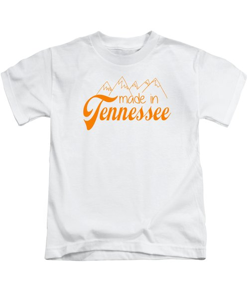 Made In Tennessee Orange Kids T-Shirt by Heather Applegate