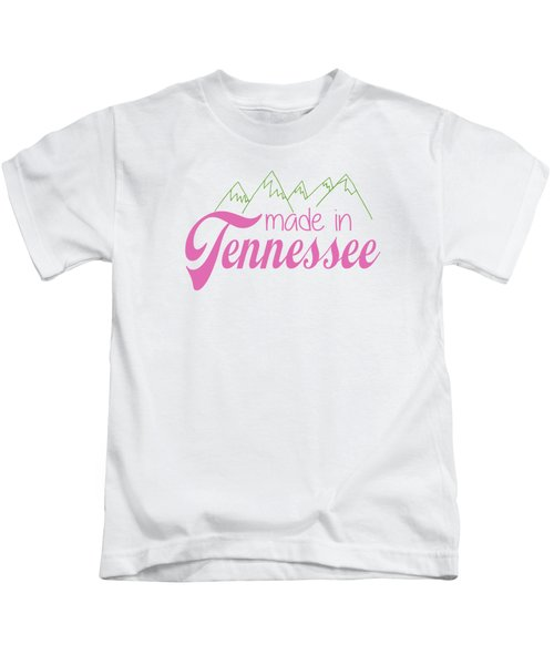 Made In Tennessee Pink Kids T-Shirt