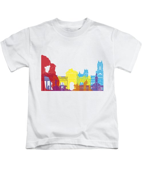 Madrid Skyline Pop Kids T-Shirt
