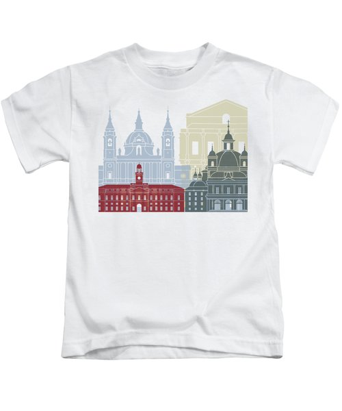 Madrid V2  Skyline Poster Kids T-Shirt