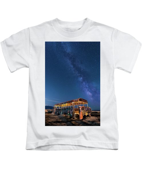 Magic Milky Way Bus Kids T-Shirt