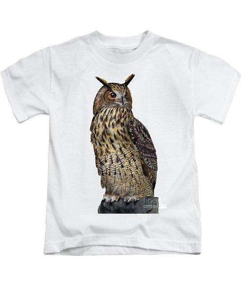 Majestic Eurasian Northern Eagle Owl Bubo Bubo - Hibou Grand-duc - Buho Real - Nationalpark Eifel Kids T-Shirt