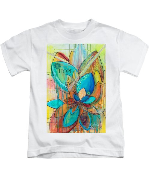 Spirit Lotus With Hope Kids T-Shirt