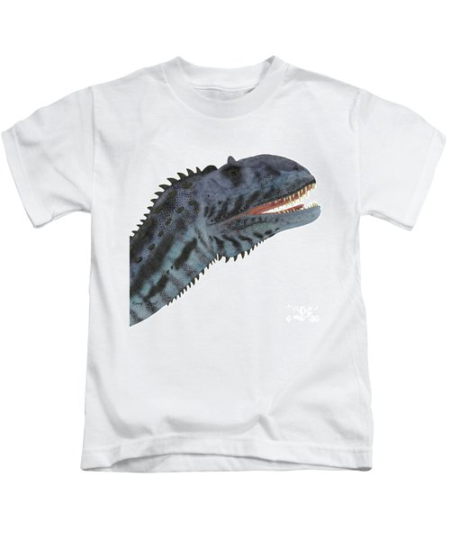 Majungasaurus Dinosaur Head Kids T-Shirt