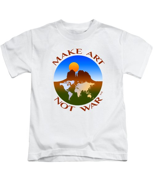 Make Art Not War Logo Kids T-Shirt