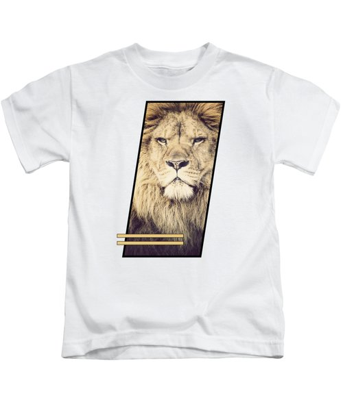 Male Lion Kids T-Shirt by Sven Horn
