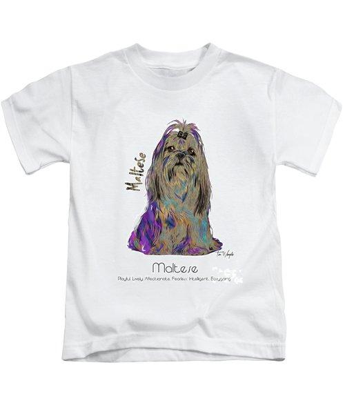 Maltese Pop Art Kids T-Shirt