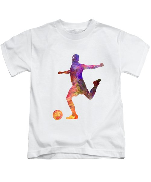 Man Soccer Football Player 03 Kids T-Shirt by Pablo Romero