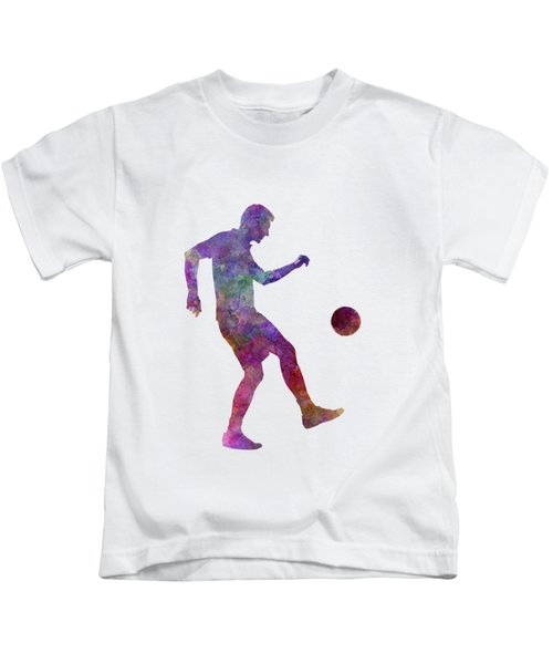 Man Soccer Football Player 04 Kids T-Shirt by Pablo Romero
