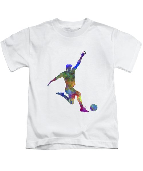 Man Soccer Football Player 05 Kids T-Shirt by Pablo Romero