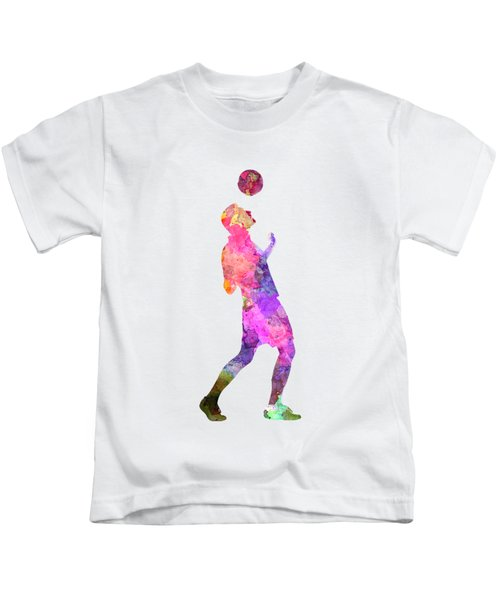Man Soccer Football Player 06 Kids T-Shirt by Pablo Romero