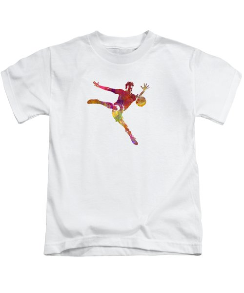 Man Soccer Football Player 08 Kids T-Shirt by Pablo Romero